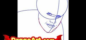 Draw Justin Bieber step-by-step
