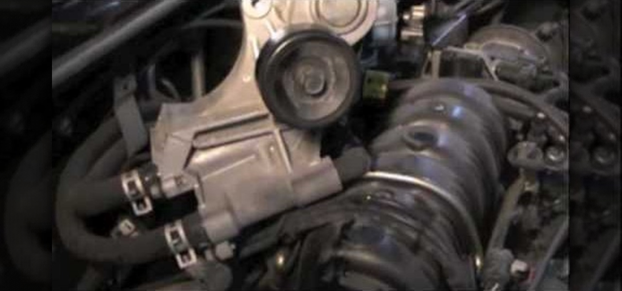 how to fix a leaking coolant bypass tube on a 3 8 chevy engine rh diy auto repair wonderhowto com 2007 Chevy Impala Serpentine Belt Diagram V6 Engine Diagram