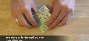 Fold an origami bird base