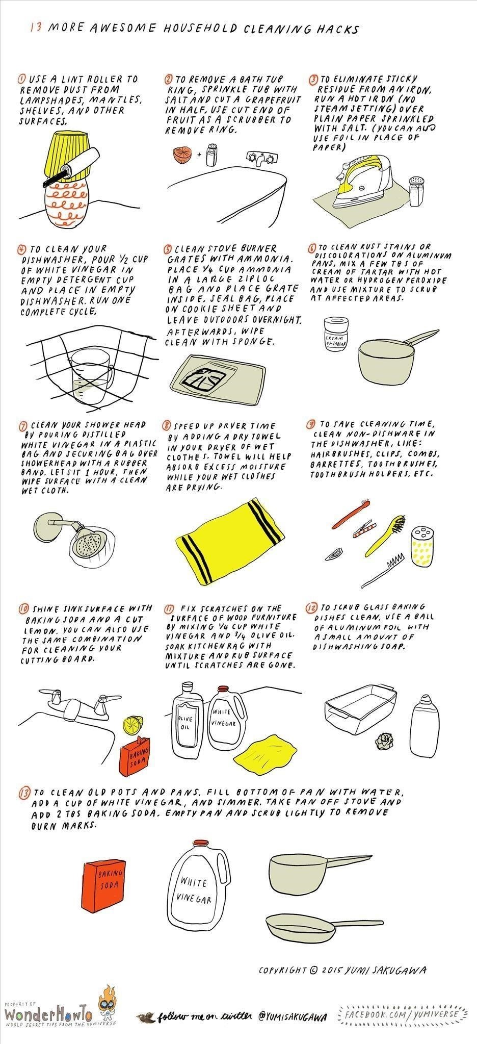 13 More Awesome Household Cleaning Hacks