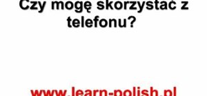 "Use ""may I"" phrases in Polish"