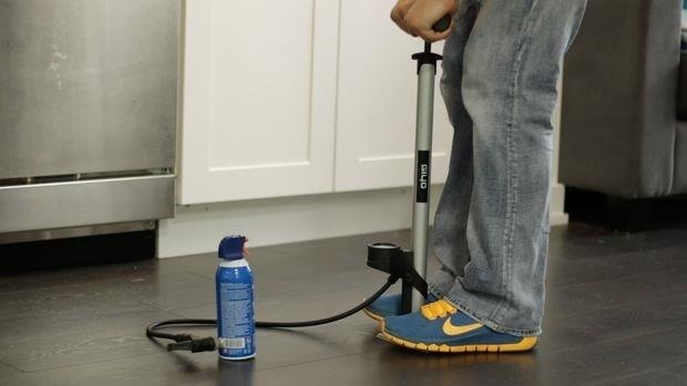 How to Refill an Air Duster Can with a Bicycle Pump
