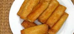 Fry Banana and Jackfruit Turon Rolls