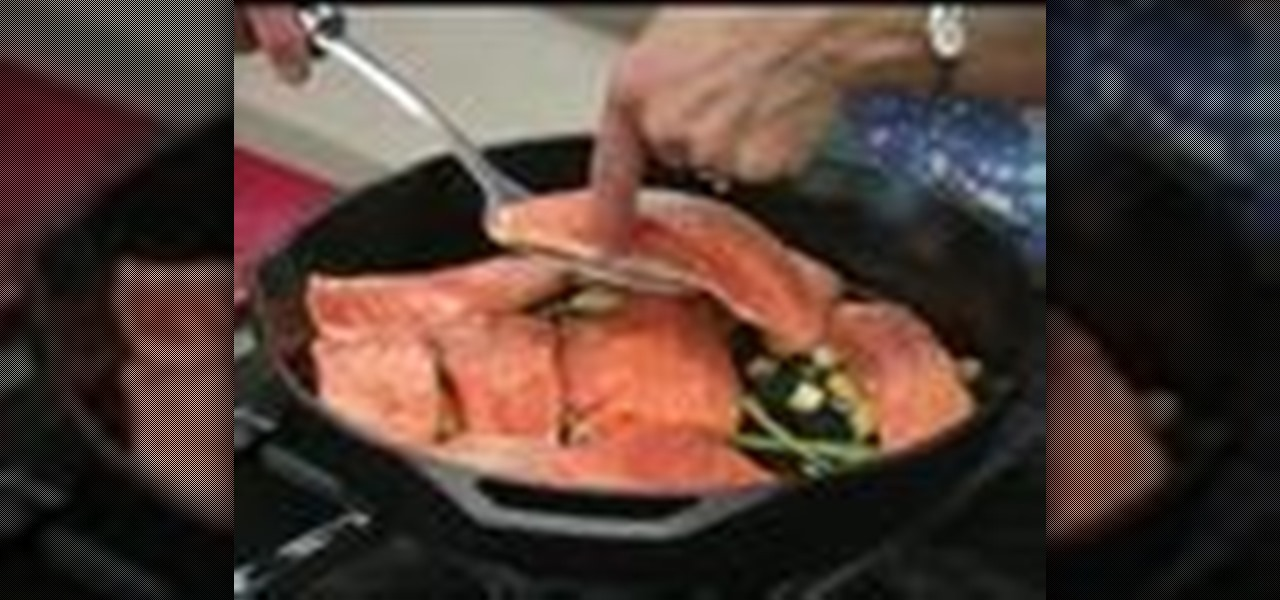 How to cook a pan roasted salmon with garlic and for How to cook salmon fish
