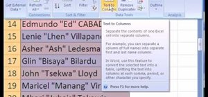 Use the text-to-column tool in Microsoft Excel