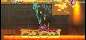 Beat the Temper Temple level of Hot Land in Kirby's Epic Yarn for the Wii