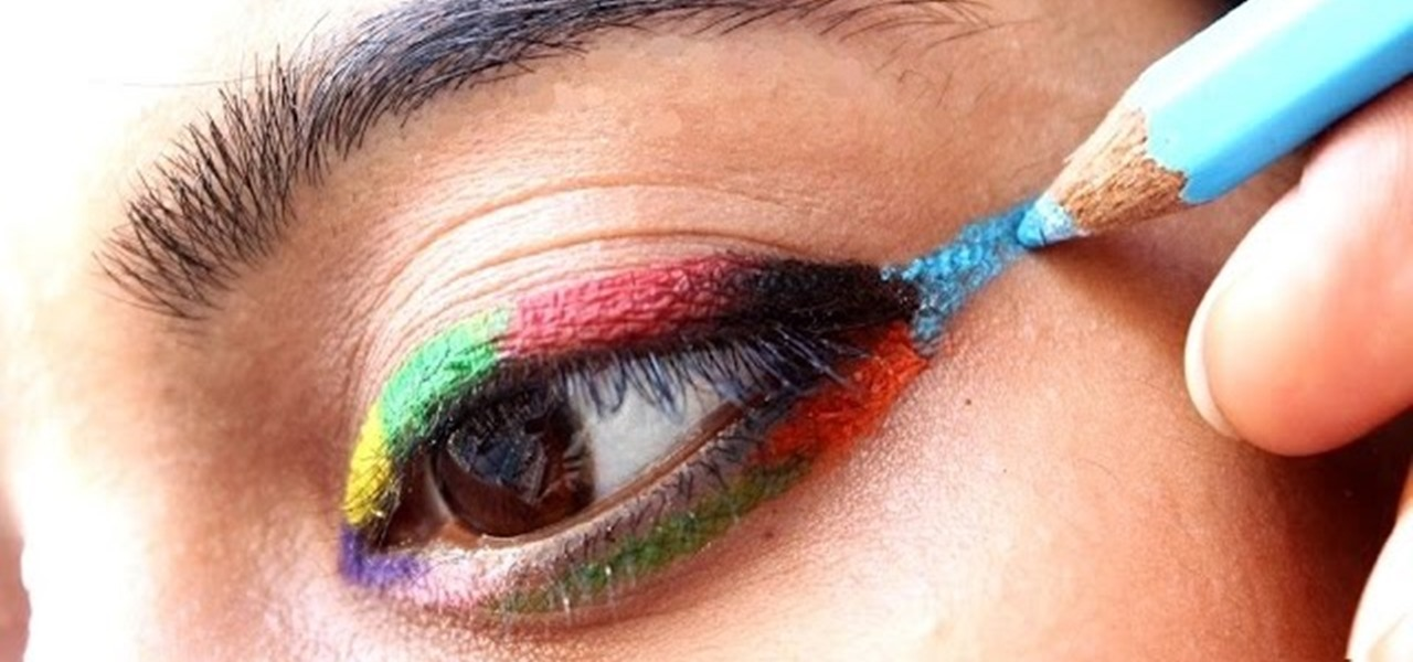 Make Eyeliner with Colored Pencils