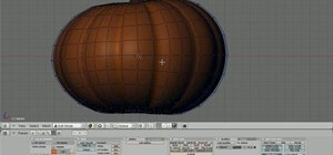 Carve a 3D pumpkin into a jack-o'-lantern in Blender