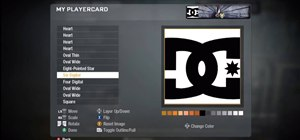 Draw the DC Comics logo in the Call of Duty: Black Ops emblem editor