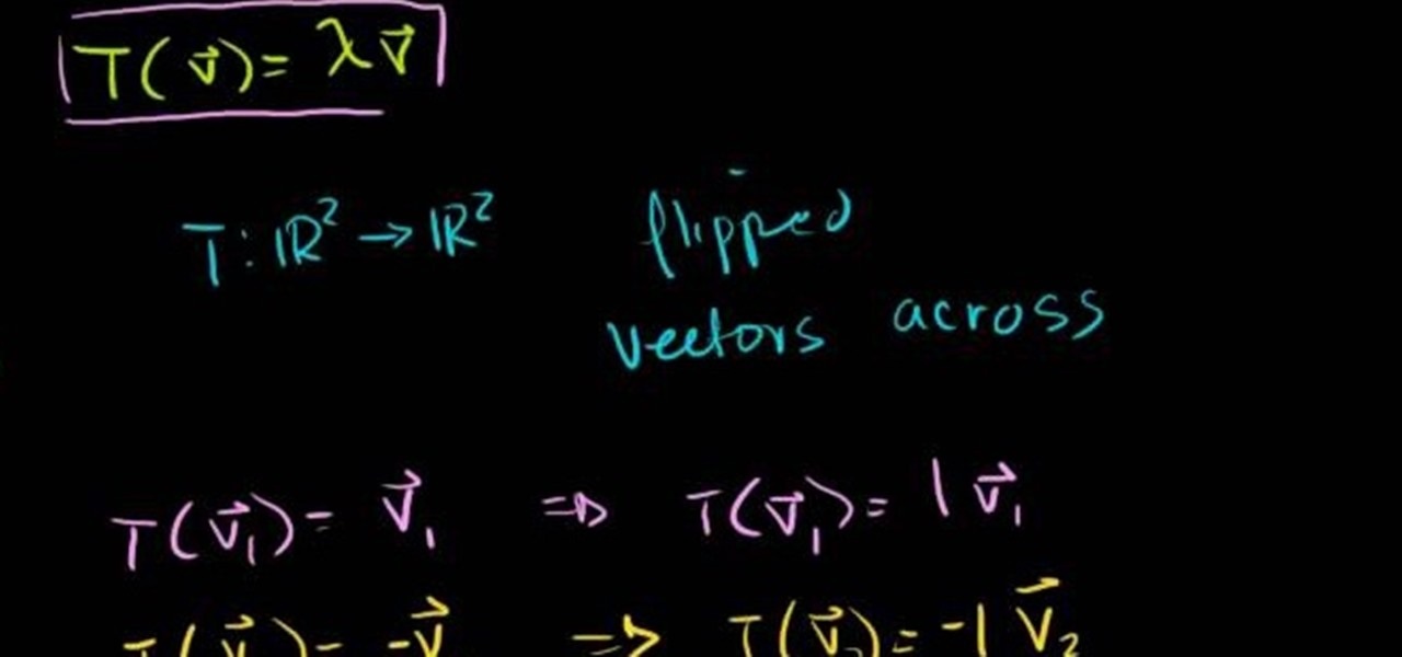 how to find eigenvalues and eigenvectors of a 3x3 matrix