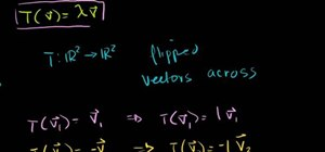 Use eigenvalues and eigenvectors in linear algebra