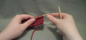Knit two stitches together in the continental style