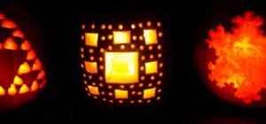 Carve Fractals and Stars on Pumpkins