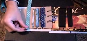 Assemble a handy book to organize ribbon