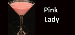 Make a Pink Lady cocktail