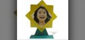 Origami a sunflower photo stand Japanese style