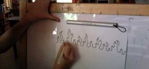 Draw cartoon fire and flames