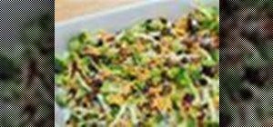 Make a healthy, sweetened broccoli salad
