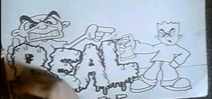 Draw graffiti letters