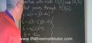 Derive a quadratic equation, given the roots