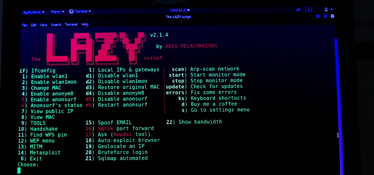 How to Hack Wi-Fi & Networks More Easily with Lazy Script