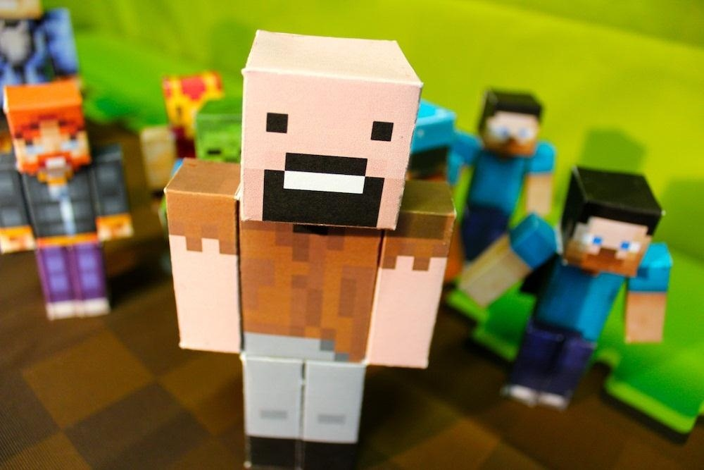 How to Design and Print Tiny Papercraft Models of Your Favorite Minecraft Characters Using Your iPhone