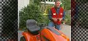 Change the oil on a riding lawn mower