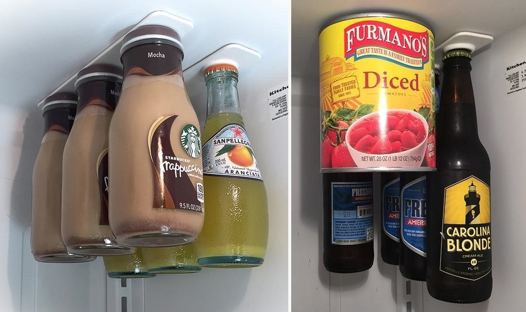 9hang Bottles From The Roof Of Your Fridge