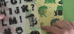 Make a frog birthday invitation using Cricut