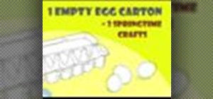 Use egg cartons for  crafts