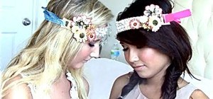 Make DIY bohemian/hippie headbands
