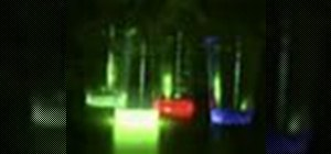 "Mix liquid ""glow stick"" colors to make white light"