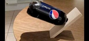 Make a wooden soda holder that seems to defy gravity