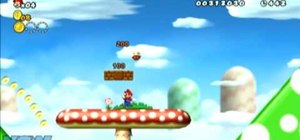 Collect all three Star Coins in New Super Mario Bros Wii World 1-5