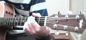 "Play ""Go Let It Out"" by Oasis on guitar"