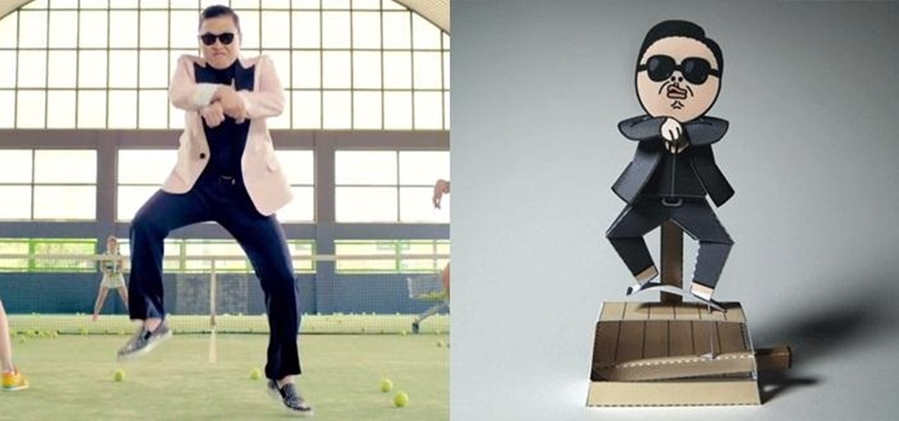 Make PSY Dance Whenever You Want with This DIY Gangnam Style Papercraft Machine