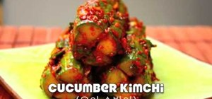 Make cucumber kimchi