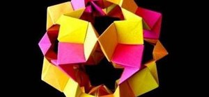 Make a paper cookie-cutter dodecahedron with origami