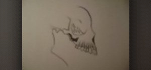 Draw a skull easily