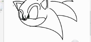 Quickly draw Sonic the Hedgehog