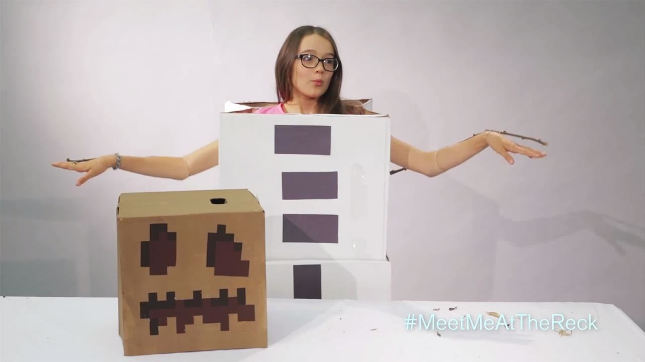 How to Make a DIY Minecraft Snow Golem Costume