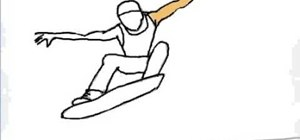 Draw a skateboarder