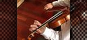 Play a violin tuning exercise