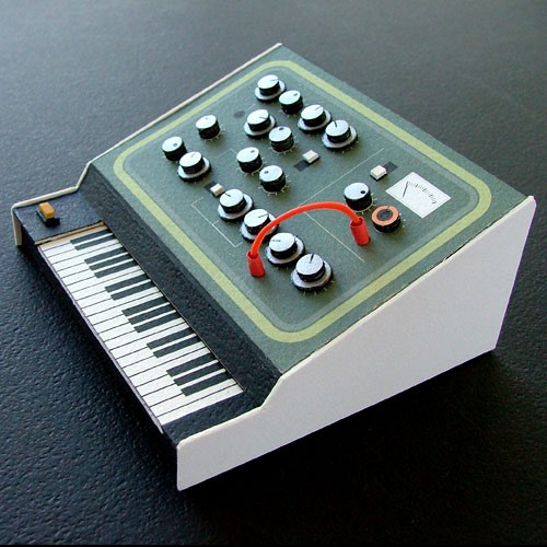 Retro Electronics Papercraft For the Brazil '66 Crowd