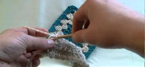 Crochet the single stitch for a beginner at crochet