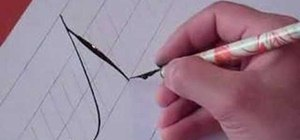 Write the letter N in calligraphy copperplate