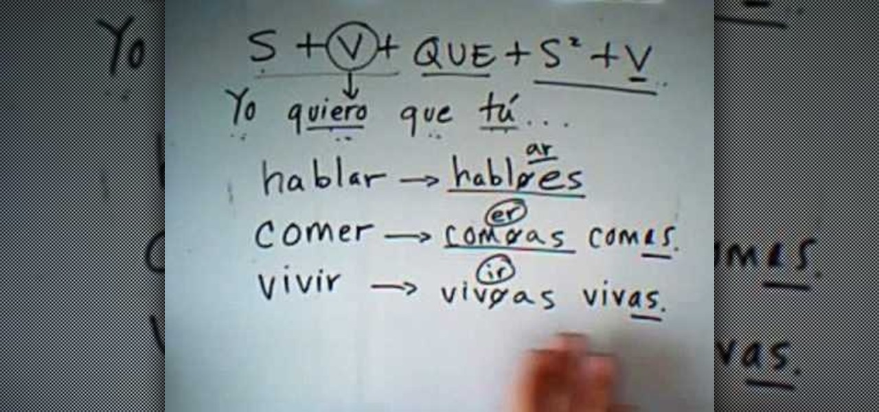 spanish how to use subjunctive