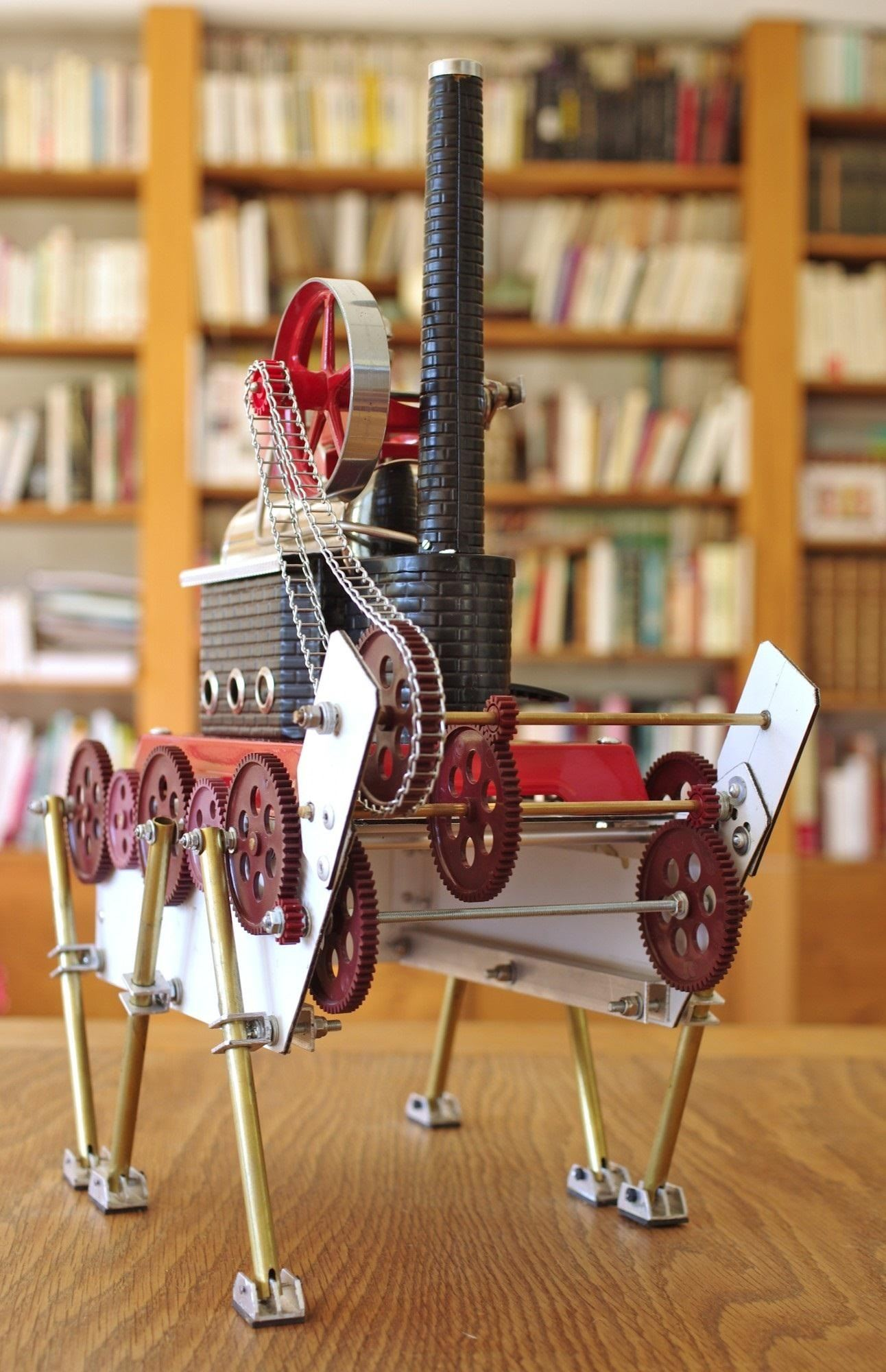 Meet the Steam Ant: A Steampunk-Inspired Hexapod Robot That's Actually Powered by Steam!
