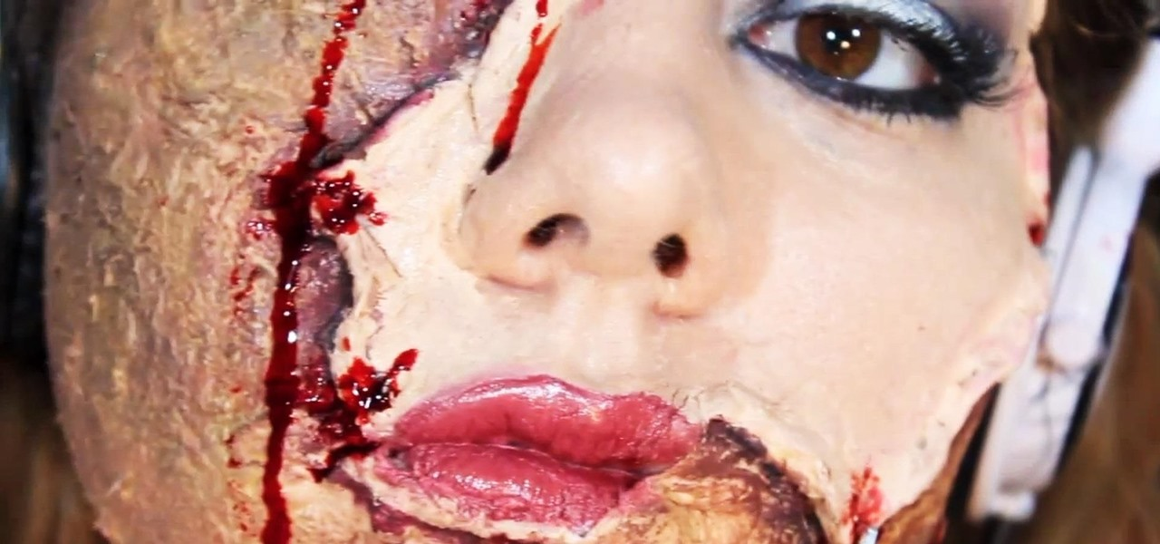 DIY Scarred Face with Flayed Human Skin Mask