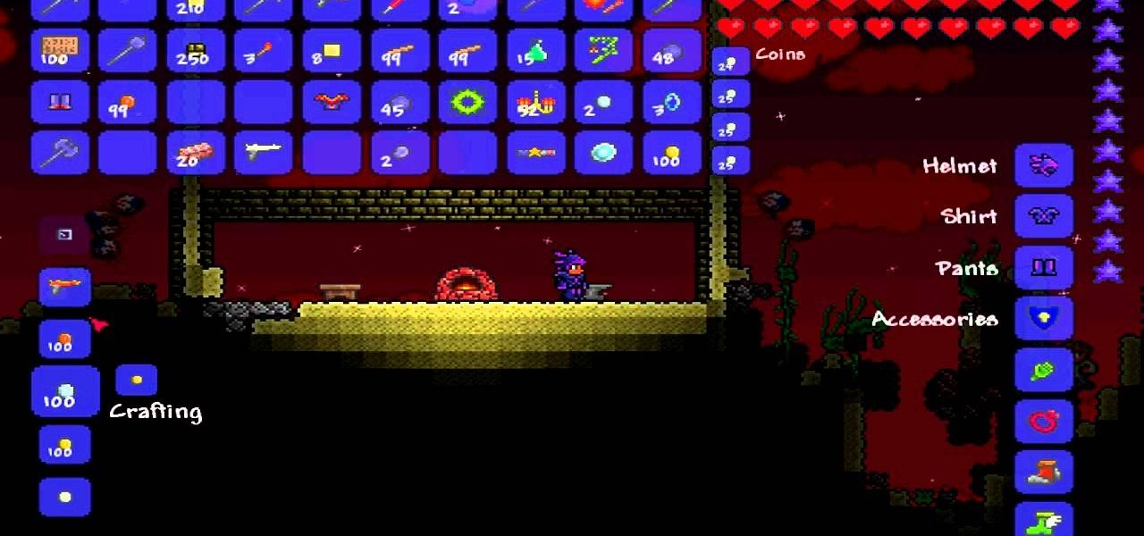 How to Craft meteor shots and a pheonix blaster in Terraria